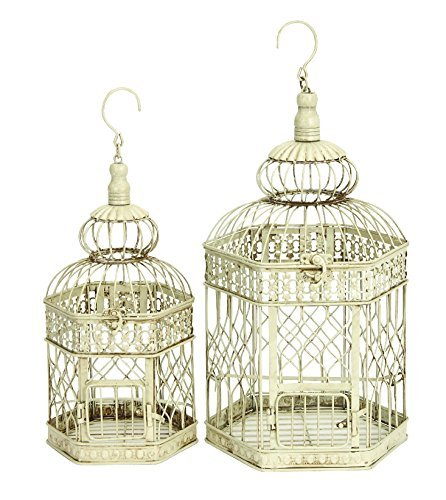 Deco-79-Metal-Bird-Cage-21-Inch-and-18-Inch-Set-of-2-B0062BQ94M
