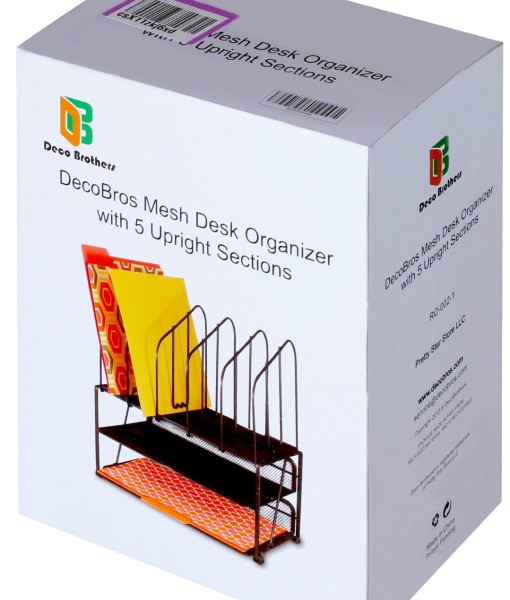 DecoBros-Mesh-Desk-Organizer-with-Double-Tray-and-5-Upright-Sections-B00H5D9J5M-2