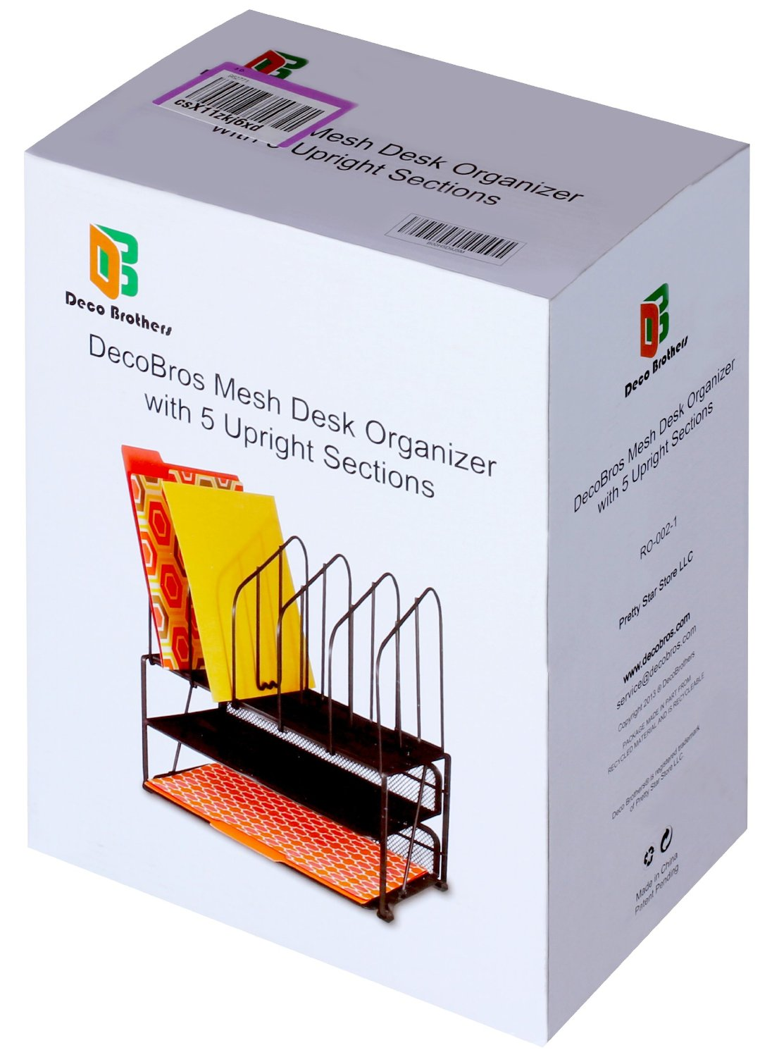 Decobros Mesh Desk Organizer With Double Tray And