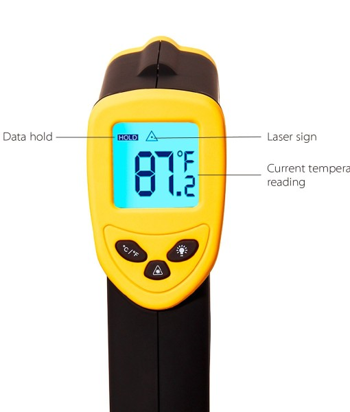 Etekcity-Lasergrip-1080-ETC-8550-Temperature-Gun-Non-contact-Digital-Laser-Infrared-IR-Thermometer-58-1022F-121-DS-Instant-read-FDAFCCCEROHS-Approved-B00DMI632G-2