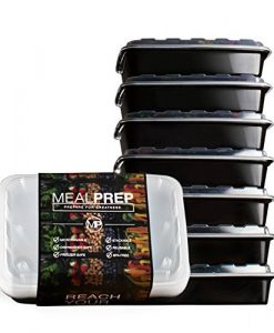 Meal-Prep-Containers-Stackable-Plastic-Microwavable-Dishwasher-Safe-Reusable-28-Oz-Set-of-Seven-B00TBMW6LO