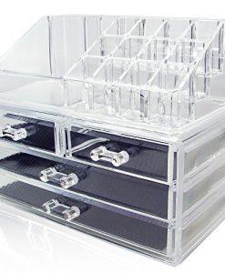 NILECORP-Acrylic-Jewelry-Cosmetic-Storage-Display-Boxes-Two-Pieces-Set-B00DUJEWDE