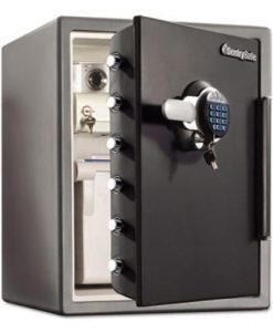 Sentry-Safe-SFW205GRC-Electronic-Water-Resistant-Fire-Safe-205-ft3-19-310-x-19-38-x-23-78-Black-SENSFW205GRC-B00MV7N8N6