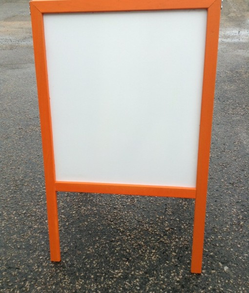 Sidewalk-Display-Sign-Easel-39-X-24-White-Dry-Erase-Board-Bright-Orange-Hardwood-Frame-B00UO1RZWG