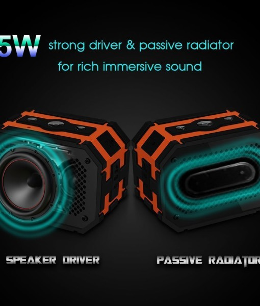 Waterproof-Speaker-Mpow-Armor-Portable-Bluetooth-Speaker5W-Strong-DrivePassive-Radiator-for-Waterproof-Shockproof-and-Dustproof-OutdoorShowerMP3PC-Speakers-with-Emergency-Power-Surpply-B010S2DEHK-4