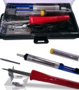 Whatnot-Widgets-5-in-1-Electronic-Soldering-Kit-with-FREE-Tool-Carry-Case-Includes-Corded-40-Watt-Soldering-Iron-Tip-Desoldering-Pump-Solder-Stand-Electronics-Repair-Hobby-and-Crafts-CE-and-B00KR1CXTS
