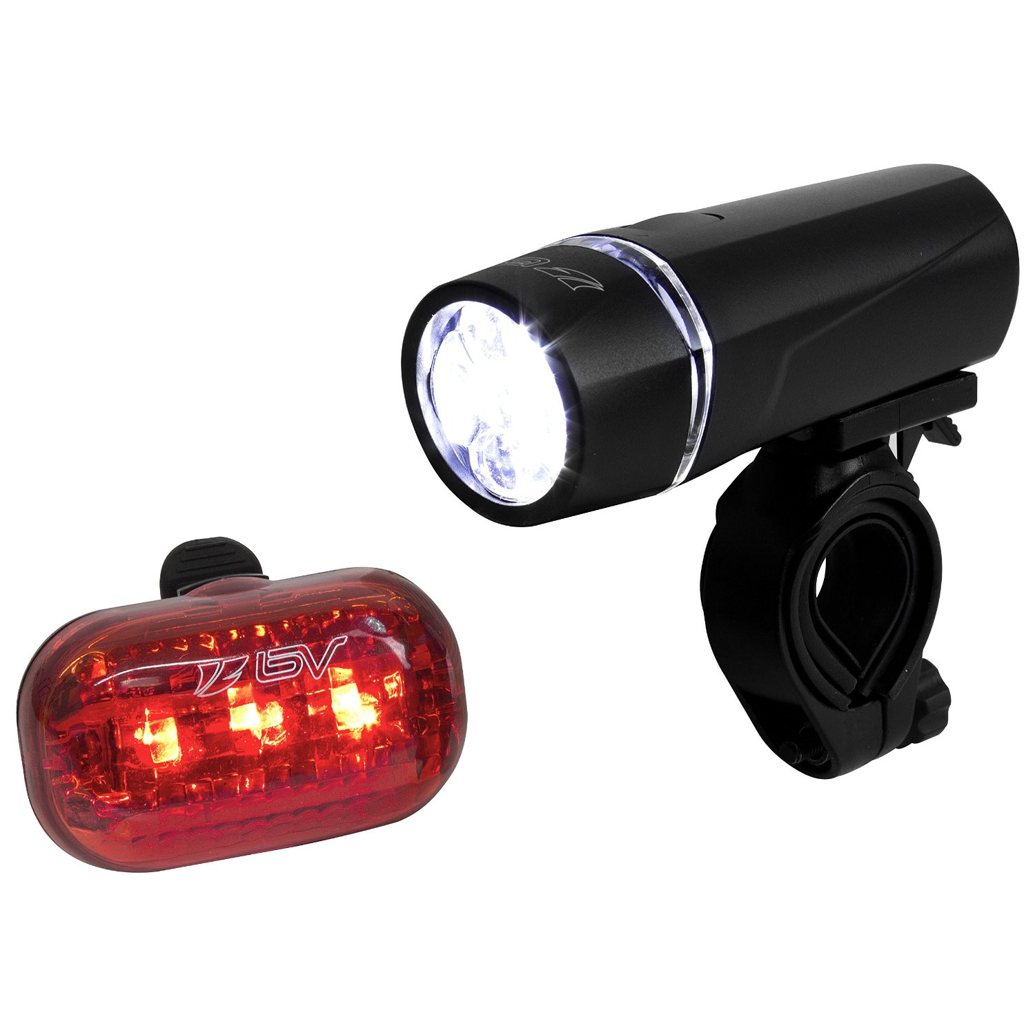 5 LED Waterproof Bike Bicycle Cycling Front And Rear Tail Light Set Super Bright