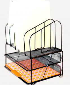 DecoBros-Mesh-Desk-Organizer-with-Double-Tray-and-5-Upright-Sections-B00H5D9J5M-4