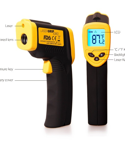 Etekcity-Lasergrip-1080-ETC-8550-Temperature-Gun-Non-contact-Digital-Laser-Infrared-IR-Thermometer-58-1022F-121-DS-Instant-read-FDAFCCCEROHS-Approved-B00DMI632G-3