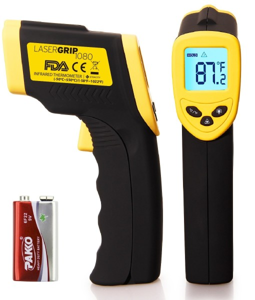 Etekcity-Lasergrip-1080-ETC-8550-Temperature-Gun-Non-contact-Digital-Laser-Infrared-IR-Thermometer-58-1022F-121-DS-Instant-read-FDAFCCCEROHS-Approved-B00DMI632G