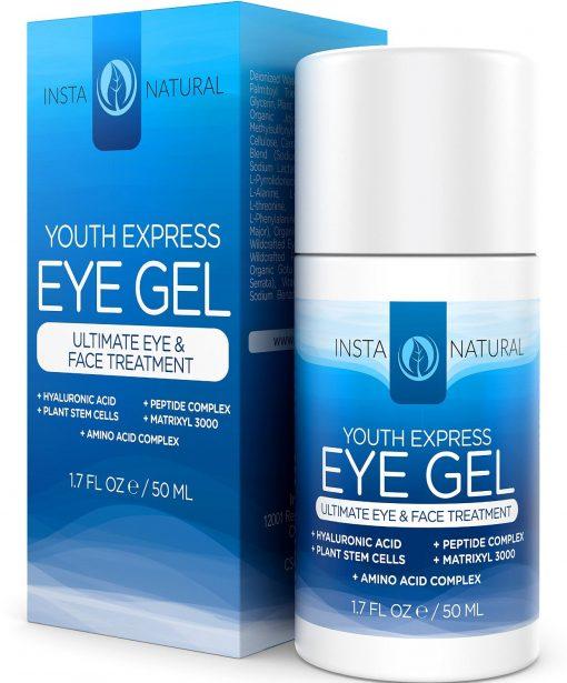 Eye-Cream-for-Wrinkles-Dark-Circles-Puffiness-Bags-BEST-100-Natural-Anti-Aging-Gel-With-Hyaluronic-Acid-Organic-Jojoba-Oil-MSM-Peptides-More-For-Men-Women-InstaNatural-17-OZ-B00KCFAZTE