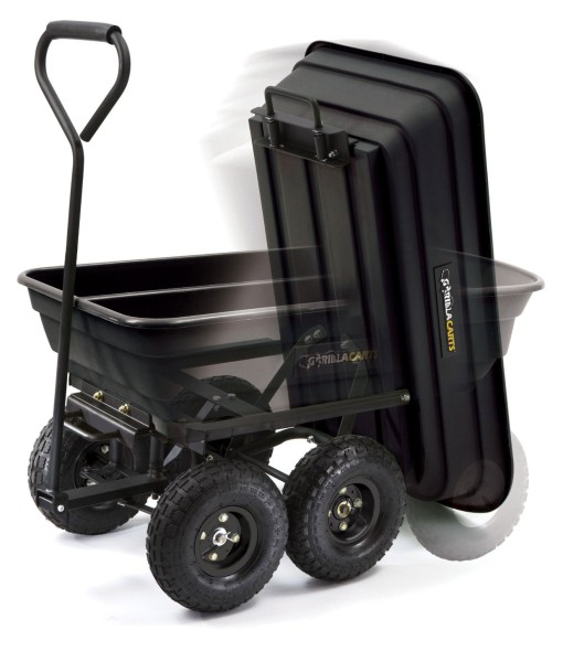 Gorilla-Carts-GOR200B-Poly-Garden-Dump-Cart-with-Steel-Frame-and-10-Inch-Pneumatic-Tires-600-Pound-Capacity-36-Inch-by-20-Inch-Bed-Black-Finish-B0026RGNJ2-2