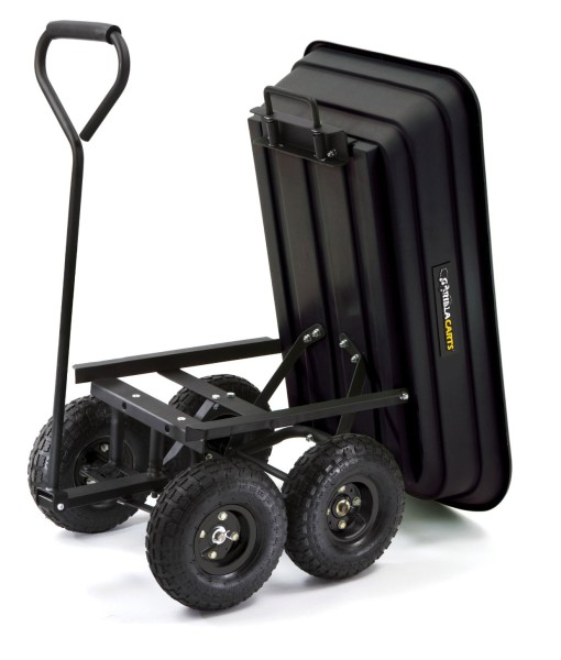 Gorilla-Carts-GOR200B-Poly-Garden-Dump-Cart-with-Steel-Frame-and-10-Inch-Pneumatic-Tires-600-Pound-Capacity-36-Inch-by-20-Inch-Bed-Black-Finish-B0026RGNJ2-3