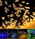 INST-Solar-Powered-LED-String-Light-Ambiance-Lighting-55ft-17m-100-LED-Solar-Fairy-String-Lights-for-Outdoor-Gardens-Homes-Christmas-Party-Warm-white-B00KGOCRLA