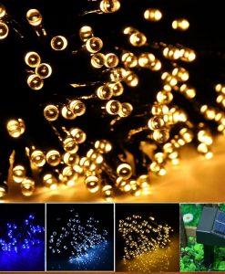 INST-Solar-Powered-LED-String-Light-Ambiance-Lighting-55ft-17m-100-LED-Solar-Fairy-String-Lights-for-Outdoor-Gardens-Homes-Christmas-Party-Warm-white-B00KGOCRLA
