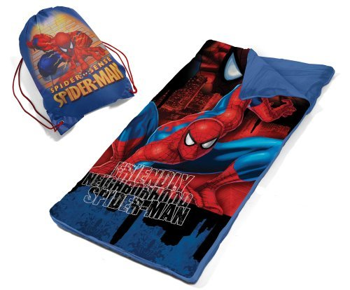 Marvel-Spiderman-Slumber-Bag-Set-B00CEV9E64