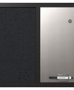 MasterVision-18-x-24-Inches-Combo-Silver-Metallic-Surface-Dry-Erase-and-Fabric-Bulletin-Board-with-Black-Frame-MX04433168-B007UH77PW