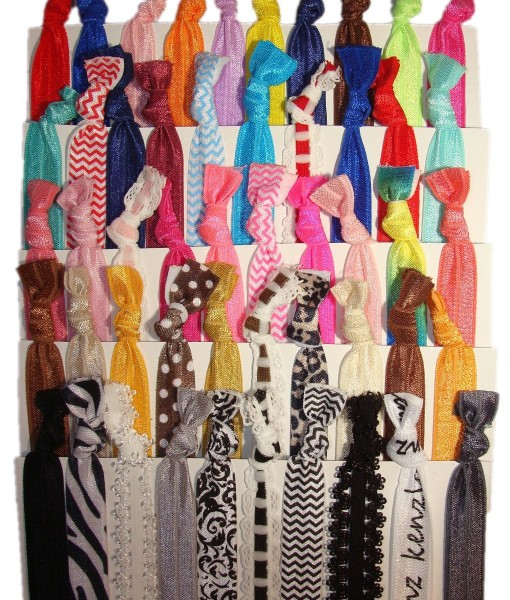 No-Crease-Hair-Ties-50-Pack-Prints-and-Solids-By-Kenz-Laurenz-B00CXSY91I