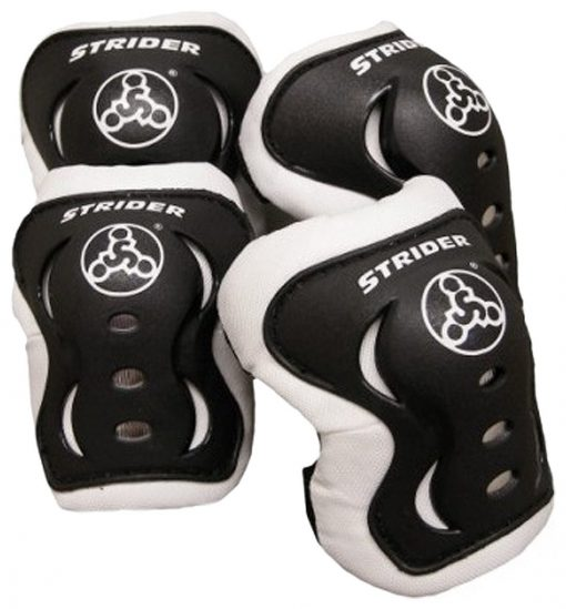Strider-Knee-and-Elbow-Pad-Set-Black-B00766HCUM
